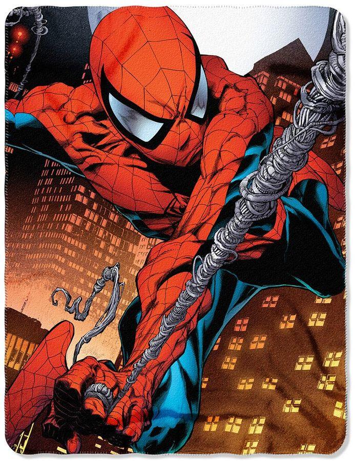 Spiderman Web Swing Fleece Throw