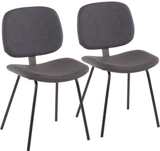 Lumisource Set Of 2 Industrial Nunzio Chairs