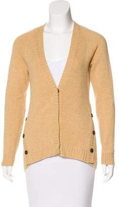 Brunello Cucinelli Cashmere & Leather-Accented Caridgan