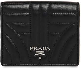 Prada Small Quilted Leather Snap Wallet