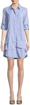 Finley Jenna Collared Long-Sleeve Ralph Striped Shirtdress