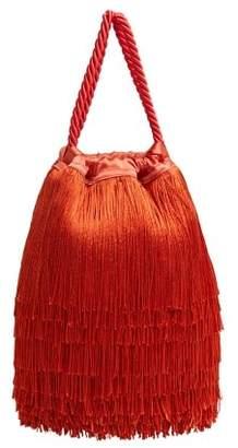 MANGO Fringe bucket bag
