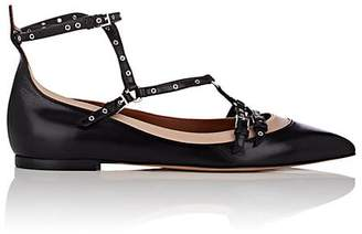 Valentino WOMEN'S LOVE LATCH LEATHER CAGED BALLET FLATS