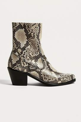 Urban Outfitters Bronco Snake Print Western Boots