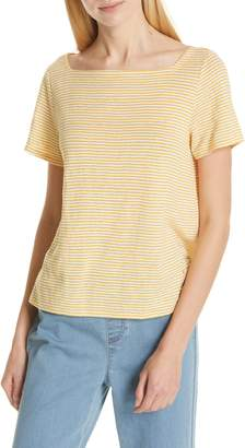 Eileen Fisher Square Neck Stripe Tee