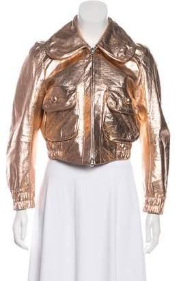 Marc Jacobs Metallic Leather Jacket