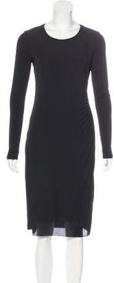 Max Mara Pleated Long Sleeve Dress