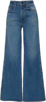 Khaite Reece High-Rise Flared Jeans