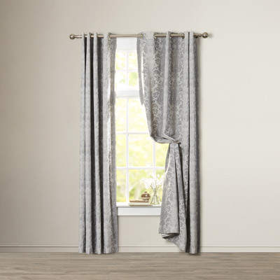 Wayfair Kaison Damask Blackout Grommet Single Curtain Panel