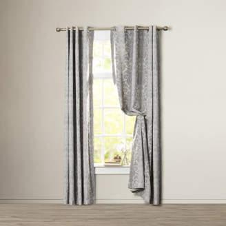 Willa Arlo Interiors Kaison Damask Blackout Grommet Single Curtain Panel