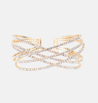Avenue Criss Cross Stone Cuff Bracelet