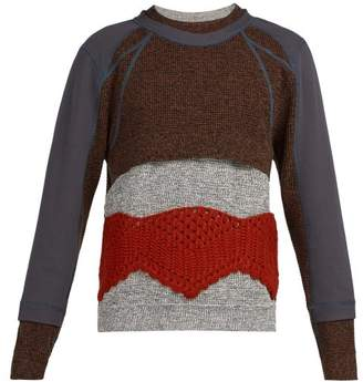 Craig Green Panelled Crochet Knit Sweater - Mens - Grey