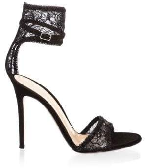 Gianvito Rossi Ankle Cuff Leather Sandals