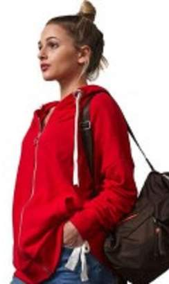 RD Style Red Rouched Hoodie