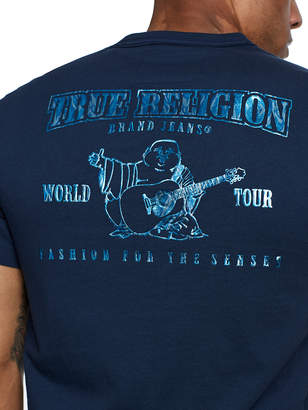 True Religion MARBLED METALLIC BUDDHA TEE