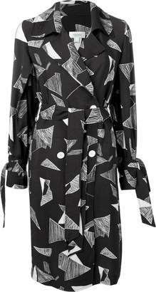 Jovonna London abstract print wrap dress