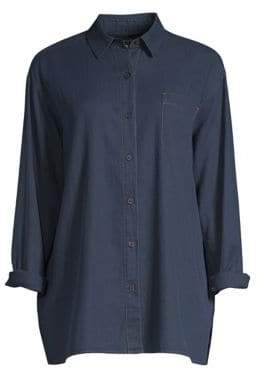 Lafayette 148 New York Everson Chambray Top