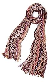 Missoni Metallic Vertical Zigzag Scarf: Pink