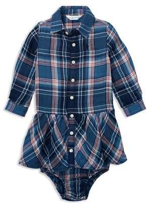 Ralph Lauren Girls' Plaid Shirt Dress & Bloomers Set - Baby