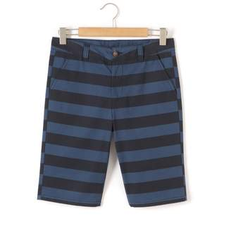 La Redoute Collections Striped Chino Style Bermuda Shorts, 10-16 Years