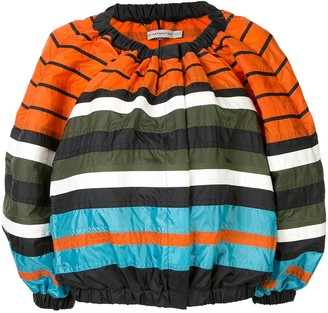 Mary Katrantzou striped bomber jacket