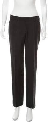 DKNY Wool-Blend Mid-Rise Pants