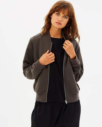 Nude Lucy Nixon Quilted Bomber Khaki XXS