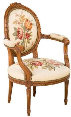 Antique Louis XVI-Style Armchair White Antique Louis XVI-Style Armchair