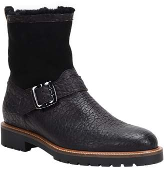 Ross & Snow Federico Waterproof Genuine Shearling Lined Moto Boot