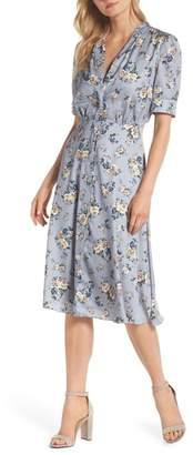 Gal Meets Glam Gemma Floral Print A-Line Dress