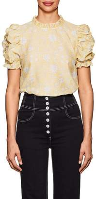 Ulla Johnson Women's Wesley Floral Cotton-Silk Blouse