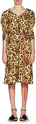 Marc Jacobs Women's Leopard-Print Belted Midi-Dress