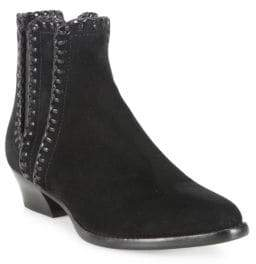 Michael Kors Presley Whipstitched Suede Booties