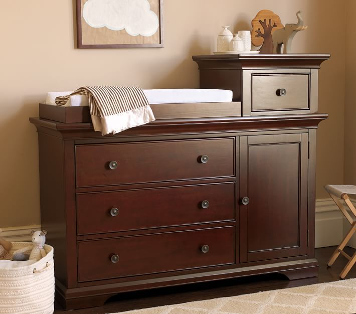 Pottery Barn Kids Larkin Hi-Lo Changing Table with Water Base Finish