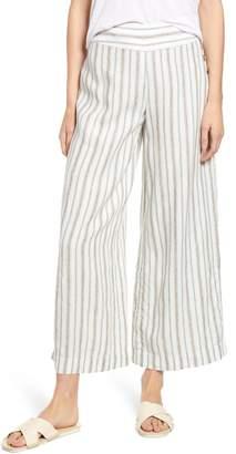 Lou & Grey Stripe Wide Leg Linen Pants