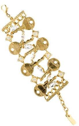 MoschinoMoschino Crystal Key Link Bracelet