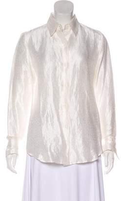 Ellen Tracy Linda Allard Long Sleeve Button Up Top