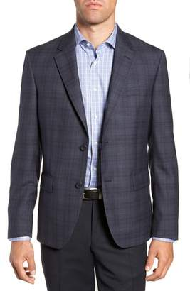Nordstrom Trim Fit Plaid Wool Sport Coat