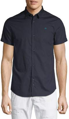 Scotch & Soda Men's Short-Sleeve Cotton Button-Down Shirt