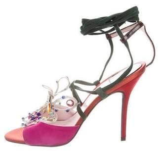 Laurence Dacade Suede Embellished Sandals