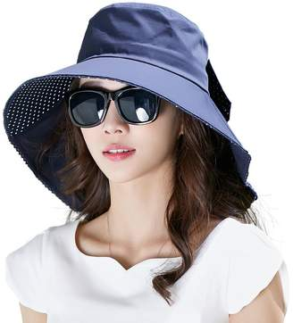 Siggi SiggiHat Womens Sun Protection Hats Summer Gardening Fishing Hiking Shade Hat SPF 50 Wide Brim Packable Navy