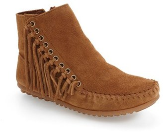 Women's Minnetonka 'Willow' Fringe Bootie $65.95 thestylecure.com