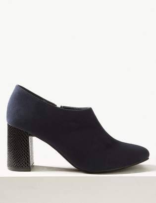 0398220472 The Everywear Shoe BootMarks and Spencer Block Heel Shoe Boots with Insolia