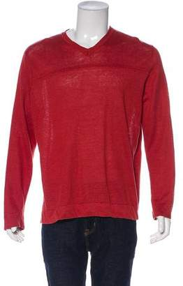 John Varvatos Linen V-Neck Sweater