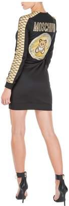 Moschino Short Mini Dress Long Sleeve Teddy Bear