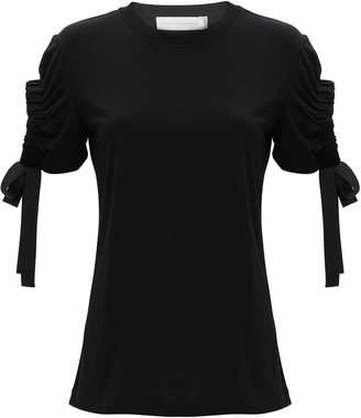 Victoria Beckham Victoria, Cutout Sleeve T-Shirt