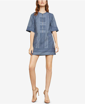 BCBGMAXAZRIA Tonal Canyon Striped Shift Dress