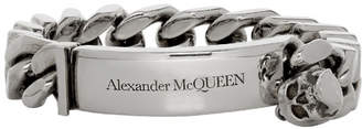 Alexander McQueen Gunmetal Identity Bracelet