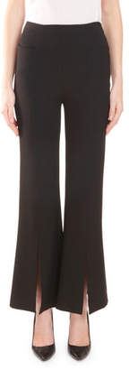 Roland Mouret Danesfield Side-Zip Flared-Leg w/ Front Slit