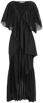 Rosetta Getty Ruffled Swiss-dot Cotton Wrap Dress